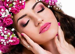 Organic skin care - Pic of lady in pink flowers